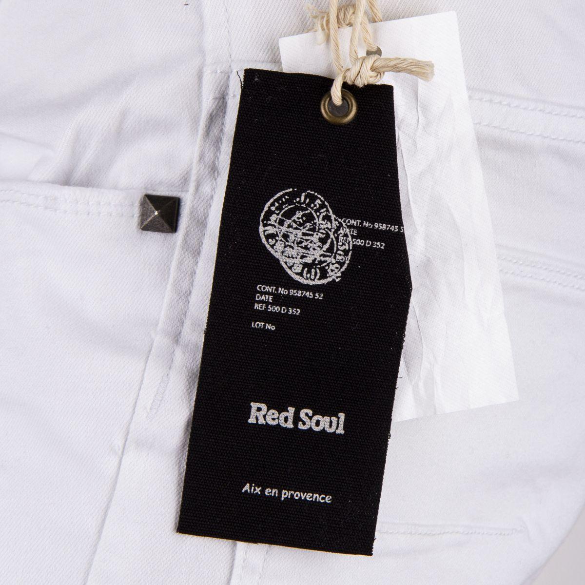 pantalon en toile blanc homme red soul prix d griff. Black Bedroom Furniture Sets. Home Design Ideas