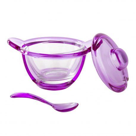 Coupelle avec cuillère violette GUZZINI marque pas cher prix dégriffés destockage