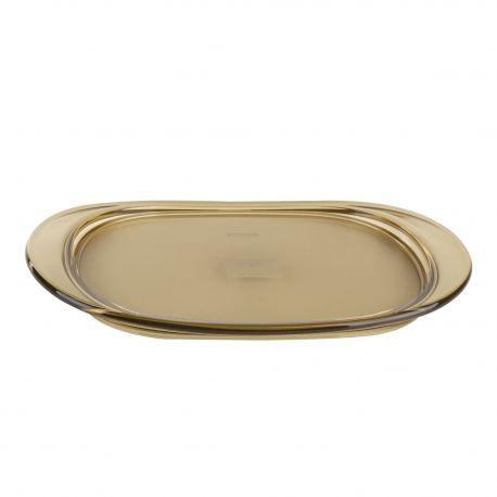Petit plateau en plexiglas beige transparent GUZZINI marque pas cher prix dégriffés destockage