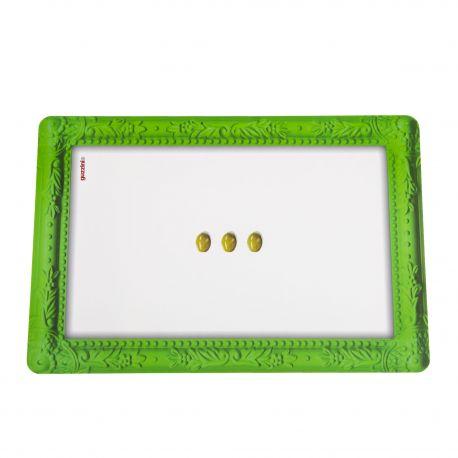 Set de table vert et blanc olive GUZZINI marque pas cher prix dégriffés destockage