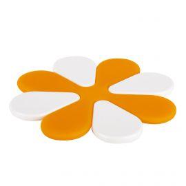 Lot de 2 dessous de plat orange et blanc GUZZINI marque pas cher prix dégriffés destockage