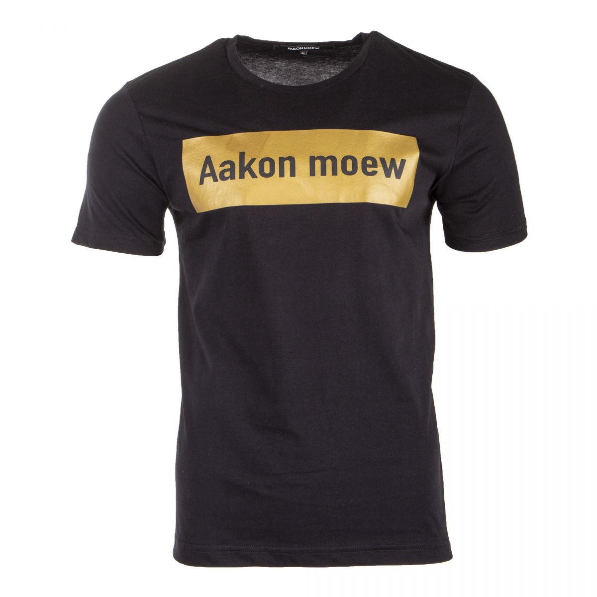 tee shirt noir slogan dor aakon moew prix d griff. Black Bedroom Furniture Sets. Home Design Ideas