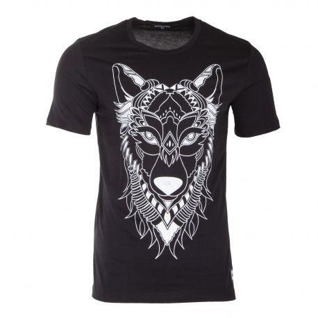 Tee shirt à manches courtes lion homme AAKON MOEW marque pas cher prix dégriffés destockage