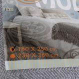 Dessus de lit à chevrons 180 x 250 cm NICOLETTA marque pas cher prix dégriffés destockage