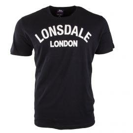 Tee shirt à manches courtes noir floqué homme LONSDALE marque pas cher prix dégriffés destockage