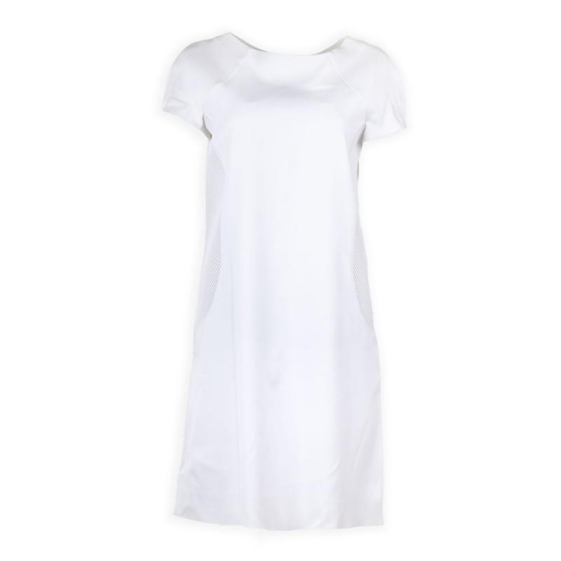 Robe manches longue zips blanches femme COURREGES marque pas cher prix dégriffés destockage