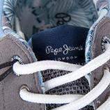 Baskets running grises et bleues enfant PEPE JEANS marque pas cher prix dégriffés destockage