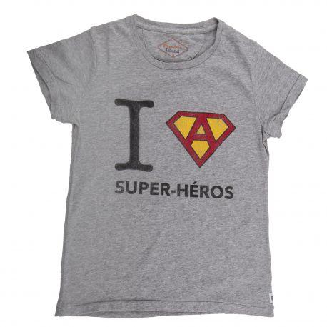 Tee shirt à manches courtes super-héro enfant FABULOUS ISLAND marque pas cher prix dégriffés destockage