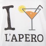 Tee shirt à manches courtes apéro femme FABULOUS ISLAND marque pas cher prix dégriffés destockage