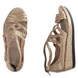 Sandales à plateforme tressée femme KARIDA marque pas cher prix dégriffés destockage