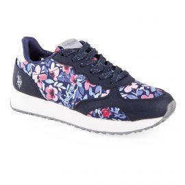 Baskets sneakers à fleurs femme US POLO marque pas cher prix dégriffés destockage