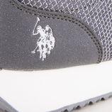 Baskets sneakers argentées femme US POLO marque pas cher prix dégriffés destockage