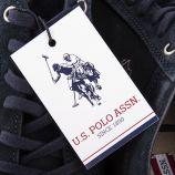 Baskets en suede homme US POLO marque pas cher prix dégriffés destockage