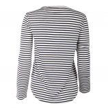 Tee shirt marinière col tunisien femme BEST MOUNTAIN marque pas cher prix dégriffés destockage
