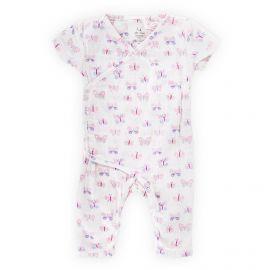 Combinaison manches courtes motif papillons bébé ADEN + ANAIS marque pas cher prix dégriffés destockage