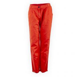 Pantalon fluide en toile orange femme AMERICAN VINTAGE marque pas cher prix dégriffés destockage
