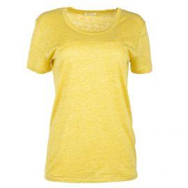 Tee shirt à manches courtes jaune femme AMERICAN VINTAGE marque pas cher prix dégriffés destockage