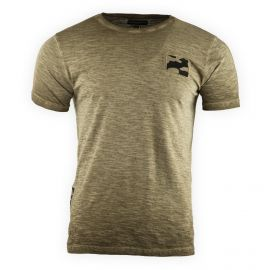 Tee shirt manches courtes chiné détail camouflage homme AMERICAN PEOPLE