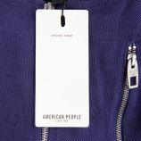 Veste piquée détails zips enfant AMERICAN PEOPLE marque pas cher prix dégriffés destockage