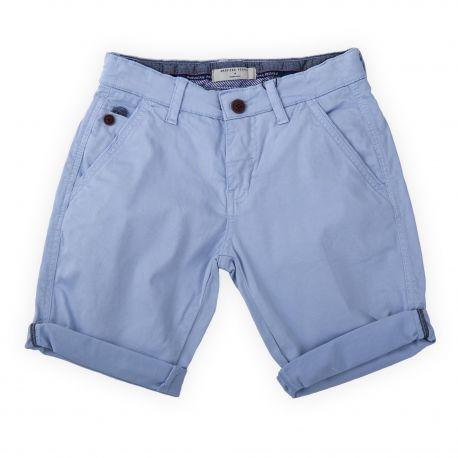 Bermuda en coton bleu ciel enfant AMERICAN PEOPLE marque pas cher prix dégriffés destockage