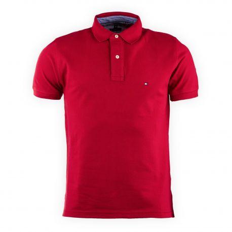 Polo en coton manches courtes homme TOMMY HILFIGER marque pas cher prix  dégriffés destockage 8939aada8f0