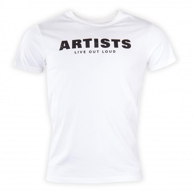 Tee shirt manches courtes blanc homme ARTISTS marque pas cher prix dégriffés destockage