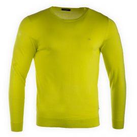 Pull fin jaune manches longues homme CALVIN KLEIN marque pas cher prix dégriffés destockage