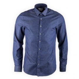 Chemise bleu jean imprimée homme CALVIN KLEIN marque pas cher prix dégriffés destockage