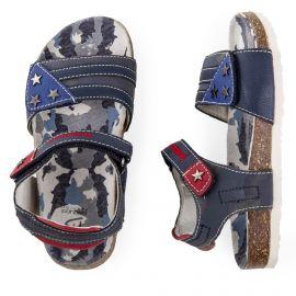 Sandales bleues garçon navy royal BALDUCCI marque pas cher prix dégriffés destockage