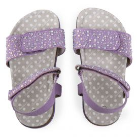 Sandales violettes Fille BALDUCCI marque pas cher prix dégriffés destockage