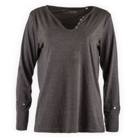 Tee shirt col V boutons femme Best Mountain