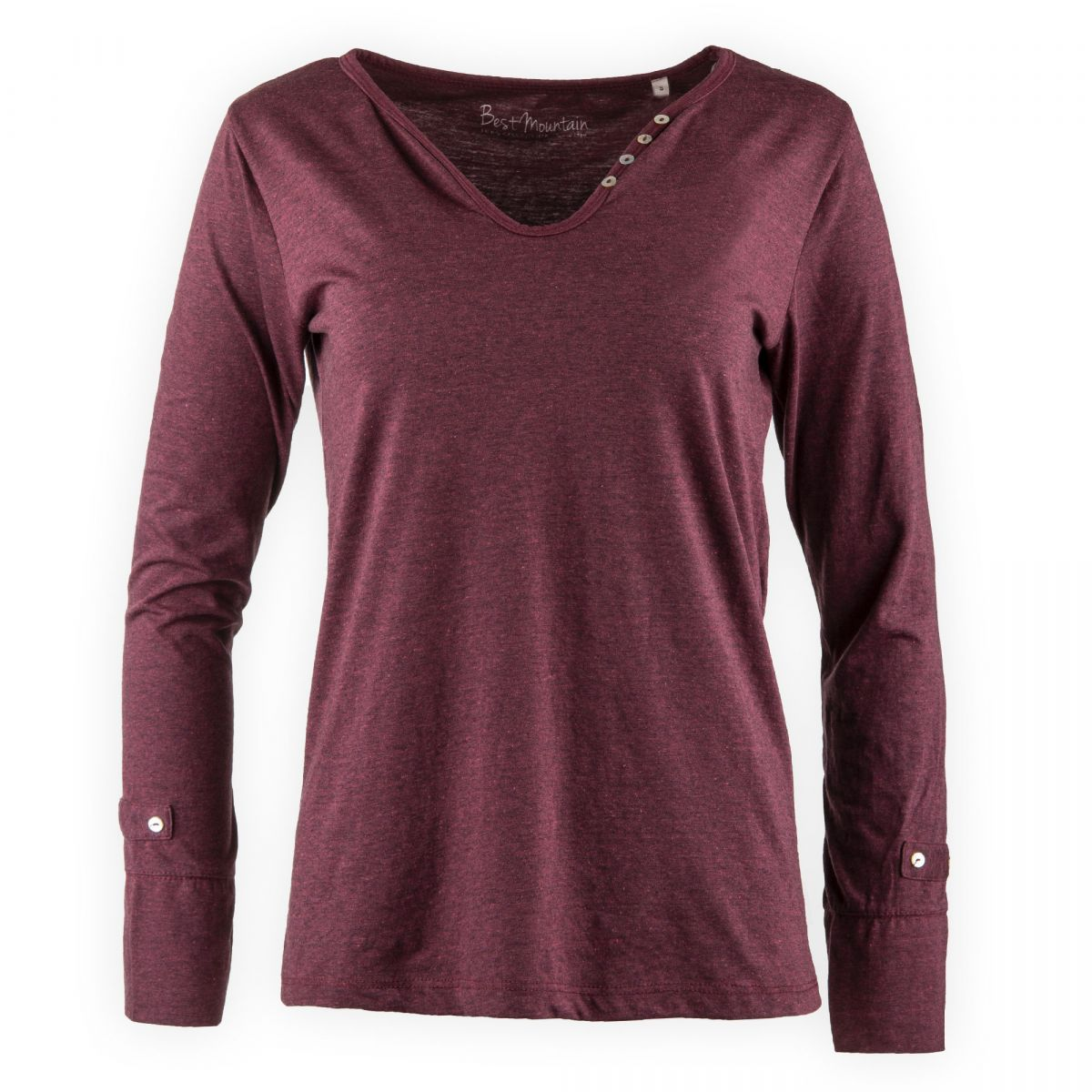 tee shirt col v boutons femme best mountain prix d griff. Black Bedroom Furniture Sets. Home Design Ideas