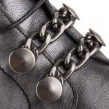 Bottines plates à lacets femme NUBE METAL PLOMO Dorking marque pas cher prix dégriffés destockage