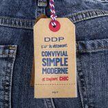 Jean slim bleu délavé Femme DDP marque pas cher prix dégriffés destockage
