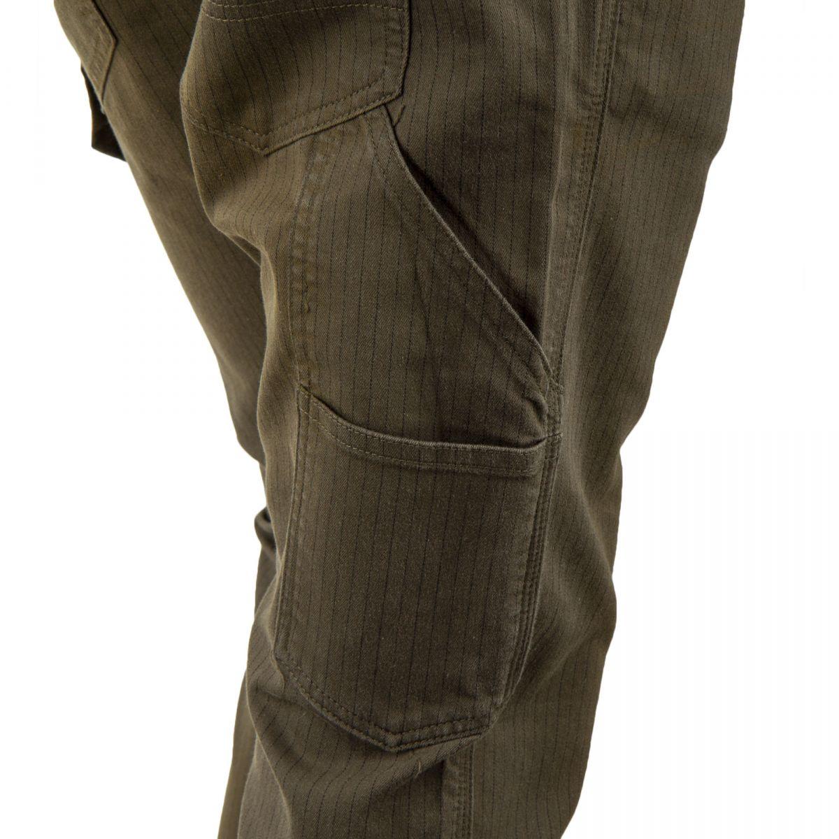 f00bbdb9889 ... Pantalon cargo kaki à rayures homme DEEPEND marque pas cher prix  dégriffés destockage ...