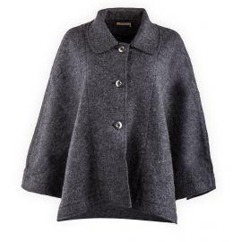 Cape manteau gris Femme DDP