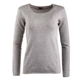 Pull gris col rond femme Best Mountain
