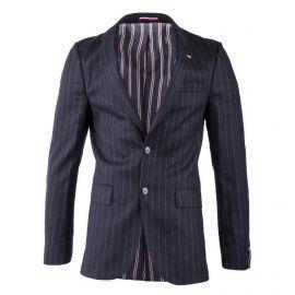 Veste blazer rayée avec coudières homme TOMMY HILFIGER marque pas cher prix dégriffés destockage