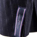 Veste de costume bleue foncé rayée avec coudières homme TOMMY HILFIGER marque pas cher prix dégriffés destockage