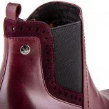 Chaussures bottines bordeaux en cuir et daim onAir femme CAPRICE marque pas cher prix dégriffés destockage