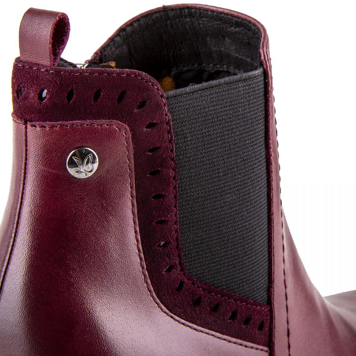 347d2c2dbdafd6 ... Chaussures bottines bordeaux en cuir et daim onAir femme CAPRICE marque  pas cher prix dégriffés destockage ...