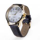 Montre noire cadran doré bracelet crocodile Homme CHRISTIAN LACROIX marque pas cher prix dégriffés destockage