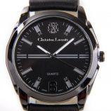 Montre ronde noire bracelet cuir Homme CHRISTIAN LACROIX marque pas cher prix dégriffés destockage