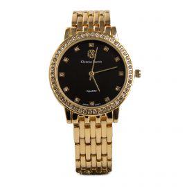 Montre ronde à strass bracelet maillons Femme CHRISTIAN LACROIX