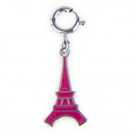 Pendentif charms émaillé en argent 925 Tour Eiffel femme KENZO marque pas cher prix dégriffés destockage