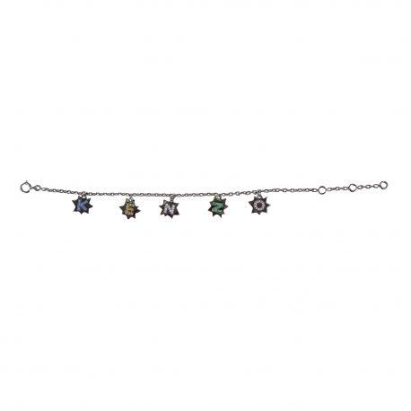 Bracelet étoiles argent gris anthracite femme KENZO marque pas cher prix dégriffés destockage