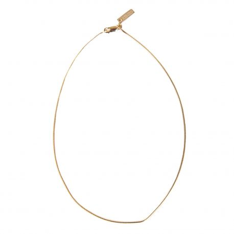 Collier chaîne ras de cou en plaqué or Femme KENZO marque pas cher prix dégriffés destockage