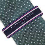 Cravate verte pois Homme TOMMY HILFIGER marque pas cher prix dégriffés destockage