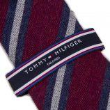 Cravate rayures rouge et bleue Homme TOMMY HILFIGER marque pas cher prix dégriffés destockage
