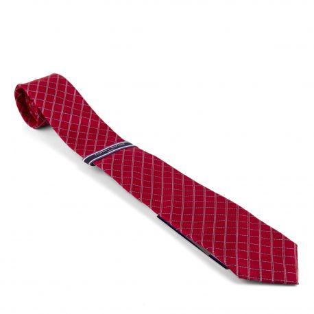 Cravate rouge losange Homme TOMMY HILFIGER marque pas cher prix dégriffés destockage